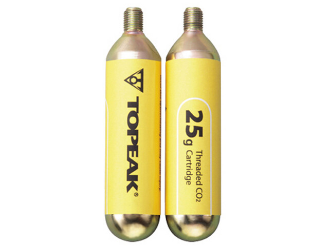 Topeak Threaded CO2 Cartridges Set of 2 yellow